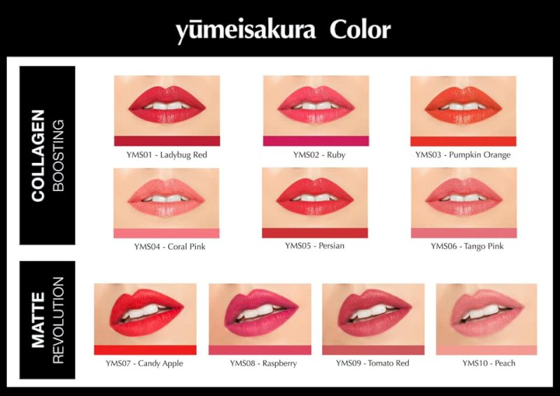 Bảng màu son YumeiSakura